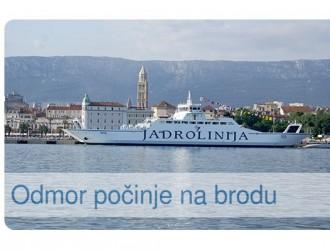 Odmor počinje na brodu